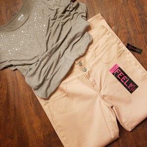 Dusty rose high waist pants NEW